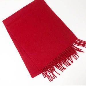 Neiman Marcus 100% Cashmere Scarf in Red 54x10